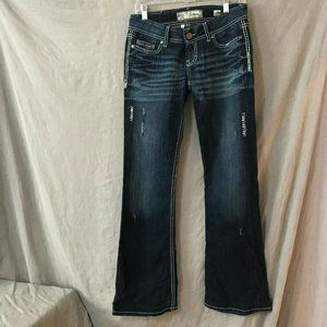BKE Womens Blue Sabrina Bootcut Jeans Size 27 L
